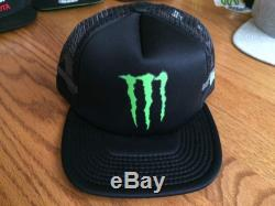 Monster Energy New Era 9fifty Hat Super Rare Athlete Only SnapBack Red Bull
