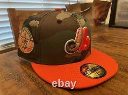 Montreal Expos 1982 ALL STAR GAME Camo Orange Green UV New Era Fitted Hat 7 3/4