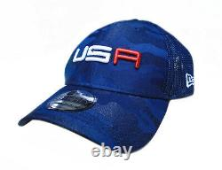 NEW 2020 New Era 39Thirty USA Ryder Cup Saturday Round Navy Blue Fitted L/XL Hat