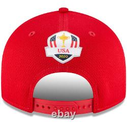 NEW 2020 New Era 9Fifty USA Ryder Cup Sunday Final Round Red Adjustable