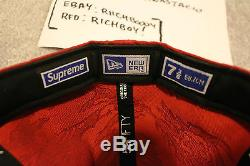 NEW DS New Era Supreme Red Tiger Camo Fitted Size 7 3/8