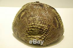NEW ERA 59FIFTY LIMITED EDITION SNAKESKIN LEATHER HAT SZ 7 5/8 (60.6CM)