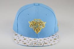 NEW ERA 59 FIFTY blue AUTHENTIC NY NEW YORK KNICKS fitted ball cap HAT NFL