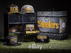 New Era Limited Edition 6 Rings Pittsburgh Steelers Hat Box Champs Sports Rare