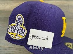NEW ERA LOS ANGELES DODGERS World Series Trophy Lakers Side Patch Hat 7 3/4 Club