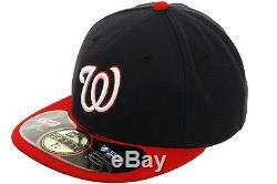 NEW ERA WASHINGTON NATIONALS ON FIELD PERFORMANCE ALTER 5950 FITTED HATS CAPS