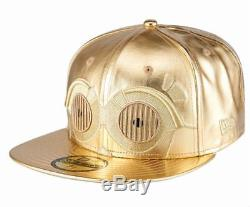 NEW ERA x STAR WARS 59FIFTY FITTED CAP C3PO Rare Limited New hat new 7-5/8