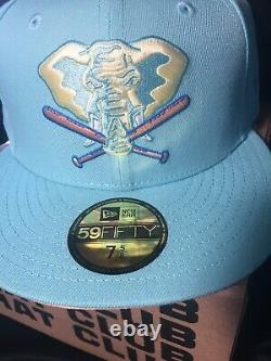 NEW! HAT CLUB Exclusive Sugar Shack New Era OAKLAND As STOMPER FITTED 7 5/8