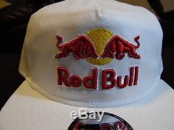 NEW! RED BULL ATHLETE ONLY HAT VERY RARE white Adjustable Size