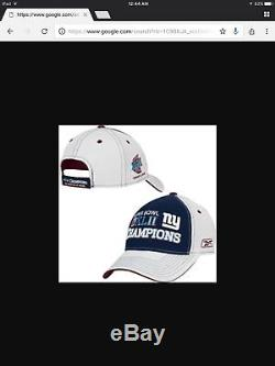NFL New York Giants Super Bowl 42 Locker Room Hat Cap Reebok Manning