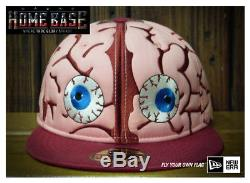 New Era 59FIFTY Fitted Halloween Brain Horror Quilted Rare