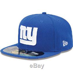 New Era 59FIFTY NEW YORK GIANTS Official NFL On Field Cap Royal Blue Hat