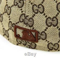 New Era 59Fifty Gucci Monogram New York Yankees Cap Fitted Mens Sz 7 5/8 Brown