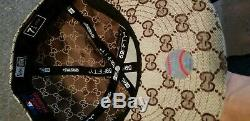 New Era 59fifty Gucci GG Monogram Light Brown New Never Worn