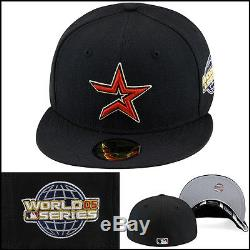 New Era 59fifty Houston Astros Fitted Hat Cap 2005 World Series Side Patch MLB
