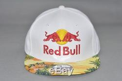 New Era 9Fifty RED BULL Floral ATHLETE ONLY White Hat Snapback Cap authentic