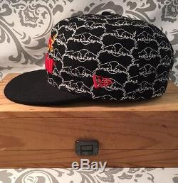 New Era 9Fifty Red Bull Athlete Only Fitted 7 5/8 Rare Bull Hat Black #387