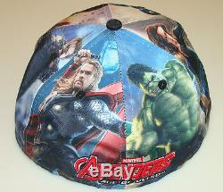 New Era Cap Hat Avengers Age of Ultron All Over 7 1/2 59fifty Fitted Marvel Hulk