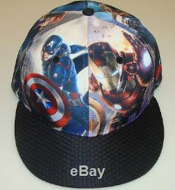New Era Cap Hat Avengers Age of Ultron All Over 7 3/4 59fifty Fitted Marvel Hulk