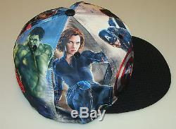 New Era Cap Hat Avengers Age of Ultron All Over 7 3/8 59fifty Fitted Marvel Hulk