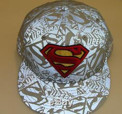 New Era Cap Hat Fitted 7 3/4 Superman 59Fifty Reflective DC Comics Polyester