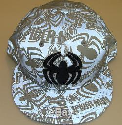 New Era Cap Hat Fitted 8 Spiderman 59Fifty Reflective Marvel Comics Polyester