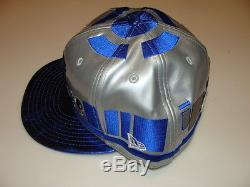 New Era Cap Hat Star Wars The Force Awakens Character Face R2D2 Blue Droid 7 3/8