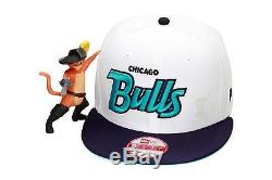 New Era Chicago Bulls Custom Snapback Hat Jordan Retro 5 White/Grape V black 3 6