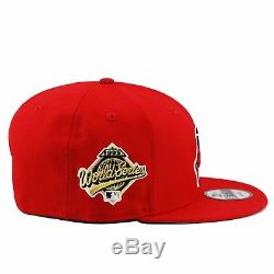 New Era Cleveland Indians Snapback Hat Cap ALL RED/Chief/1995 World Series Patch