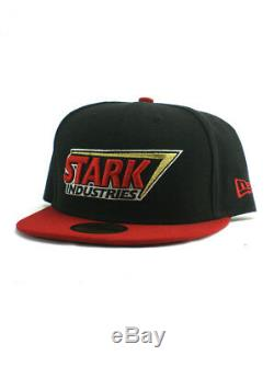 New Era Iron Man Stark Industries 59fifty Custom Fitted Hat Size 7 1/2 Marvel