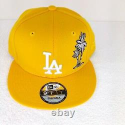 New Era Los Angeles Dodgers Palm Tree Pink Taco Tuesday Snapback Hat YellowithPink