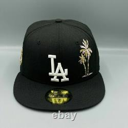 New Era Los Angeles Dodgers Palm Tree & Taco Fitted Hat Pink Bottom Size 7 7/8