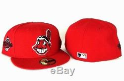 New Era MLB Red Cleveland Indians 59Fifty 1997 World Series Fitted hat