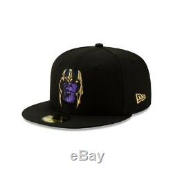 New Era Marvel Avengers Endgame Thanos Gauntlet 59Fifty 7 1/8 Fitted RARE