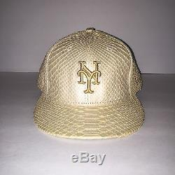 New Era New York Mets 59FIFTY Fitted Limited Snakeskin Leather Hat 7 3/4 OVO