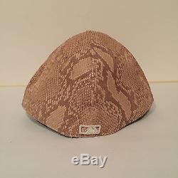 New Era New York Mets 59FIFTY Fitted Limited Snakeskin Leather Hat Size 7 3/4