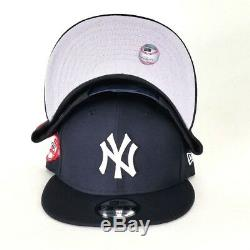 New Era New York Yankee 100th Anniversary Patch 9Fifty Snapback Hat Navy