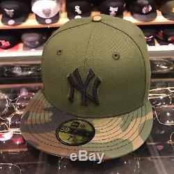 New Era New York Yankees 2017 Memorial Day Fitted Hat Green/CAMO