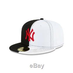New Era Size 8 New York Yankees Split Crown 59fifty Fitted Cap Hat Scarface