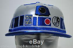 New Era Star Wars Big Face R2D2 59/50 Mens Fitted Cap Hat size 7 1/4 57.7cm