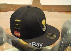 New Era WOLVERINE angrily face & Slashes X-men face 2 59fifty fitted RARE HAT