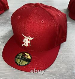 New Era x Fear of God Fitted Cap Men's SKU 12718444 -Red- Size 7 1/2