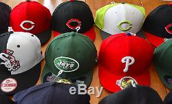 New Lot 18 59FIFTY NEW ERA Baseball Hats COLLECTION Sports Teams Kids & Mens