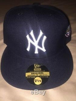 New York Yankees 2001 World Series New Era 59Fifty Fitted Hat 7 3/8 New Original