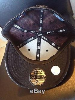 New York Yankees NEW ERA 59FIFTY LIMITED EDITION SNAKESKIN LEATHER HAT SZ 7 1/4