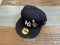 New York Yankees Pigeon Mighty NYC New Era Fitted Hat Pink uv bottom 7 3/4