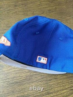 Ny Mets Yankees Bottom Brim New Era 59fifty Fitted 7 3/8 Hat Club Candy Lemonade