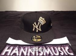 RARE BANNED New Era New York Yankees Fitted Hat CROWN Size 7 3/8 king of nyc 1