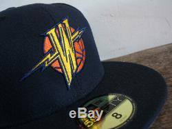 RARE Golden State Warriors WE BELIEVE New Era 59FIFTY fitted cap sz 8 hat vtg