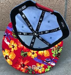 Red Bull Athlete Only Hat New Era Floral Print Very Rare Red
